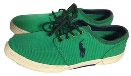 Polo Ralph Lauren Faxon Low Bright Green Canvas Casual Sneakers Shoes Sz... - $49.99