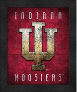 "Indiana Hoosiers ""Retro College Logo Map"" 13x16 Framed Print  - $39.95"