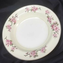 "Homer Laughlin 1942 Eggshell Nautilus Apple Blossom Soup Bowls 8.25"" Set... - $14.85"