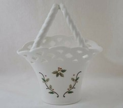 """MIKASA 7.5"""" Holiday Lace Basket with Twisted Handle #564 - $20.00"""