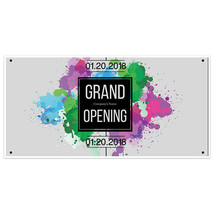 Paint Splash Grand Opening Business Window Display Retail Large Format Sign - $19.31+