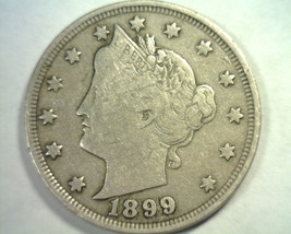 1899 LIBERTY NICKEL VERY FINE VF NICE ORIGINAL COIN BOBS COINS FAST SHIP... - $19.00