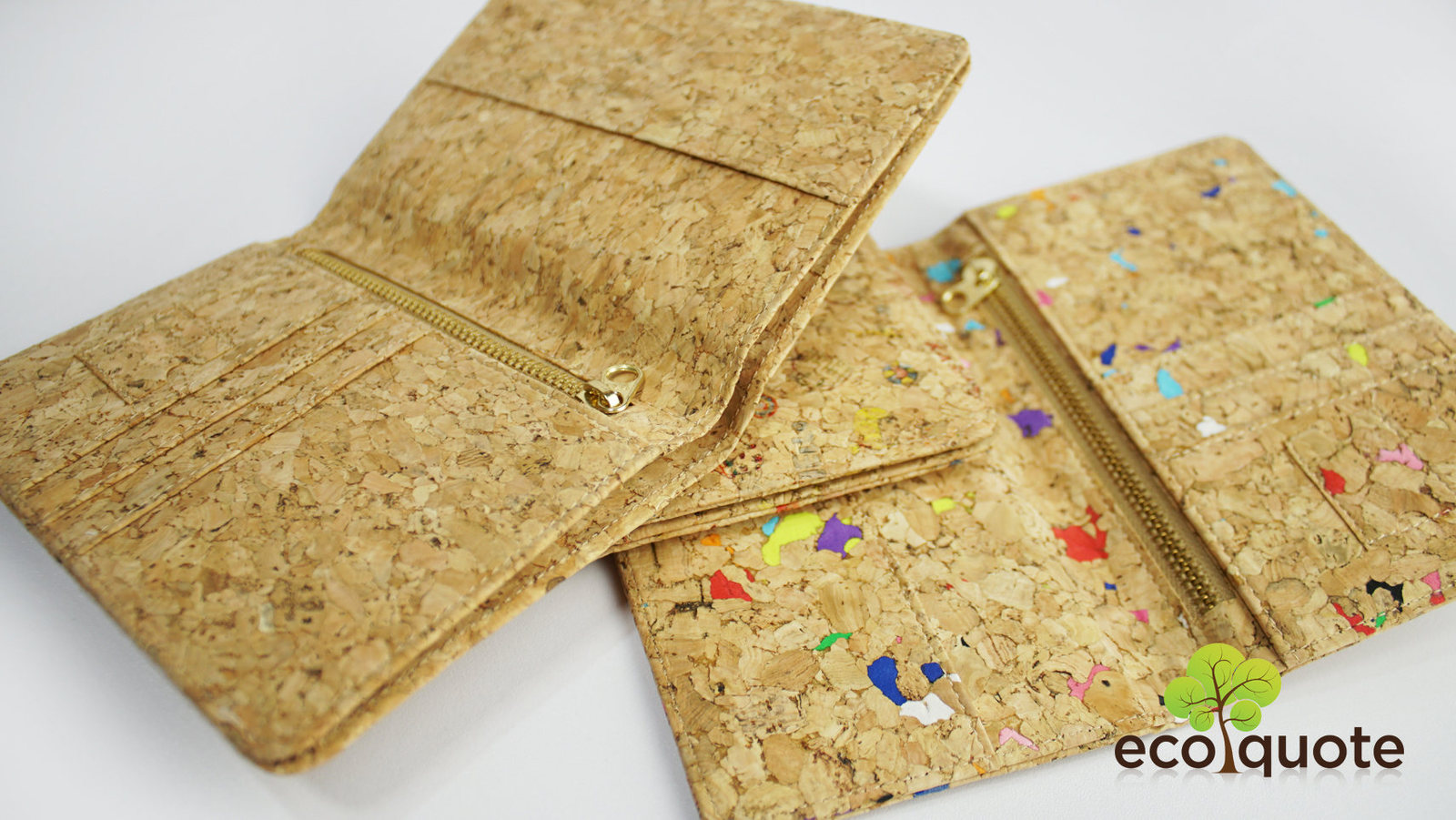 EcoQuote Passport Cover Deluxe Handmade Cork Material Eco Friendly for Vegan