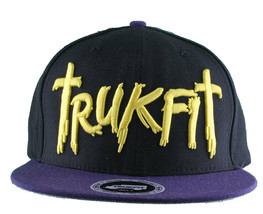 Trukfit Mens Black Purple Yellow Galaxy Baseball Strapback Hat Cap T1208H09 NWT