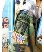 VTG Woodland BDU Shirt Propper Sz Medium Regular Issued Us Army Airborne... - $39.59