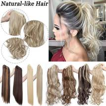 Real Thick Claw Ponytail Hair Piece Clip in Hair Extensions As Human Hair image 8