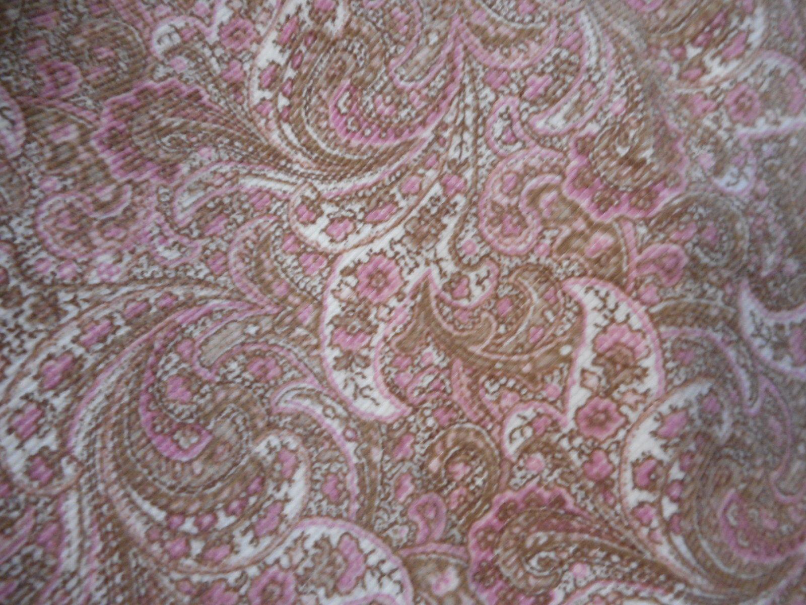 Ann Taylor cotton blend Pink brown Paisley corduroy Skirt  Sz 6