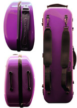TONARELI Fiberglass Violin 4/4 OBLONG Hard Case - PURPLE - w straps & Bl... - $229.00