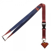 Superman Texture Suit Up Dc Comics ID Badge Holder Keychain Lanyard - $8.99