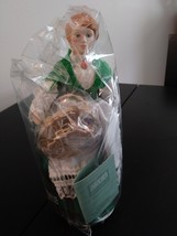 "Avon Collectible Porcelain Doll ""Colleen"" 1990  Ireland Original Box & Sealed Do image 1"