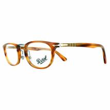 New Persol Eyeglasses Frames PO3126V 960 Stripped Brown Men 50mm Fast Ship - $97.02