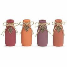 Burton & Burton Vase Glass Small Milk Bottle, 4 Assorted - $22.88