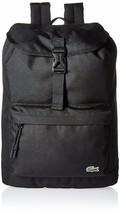 Lacoste Men's Premium Croc Logo Polyester Flap Backpack Black NH2013NE-991