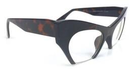 "Cat Eye Clear Lens Glasses Retro Vintage 60s Womens ""Razor"" Brown Tortoi... - $8.17"
