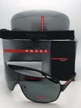 New PRADA Sport Sunglasses SPS 52Q DG0-1A1 Black Rubberized Shield w/Grey Lenses - $399.95
