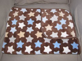 Circo Target Brown Blue Tan Gray White Star Baby Blanket Fleece - $775,65 MXN