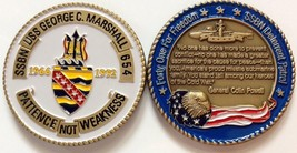 NAVY USS GEORGE C.MARSHALL SSBN-654 SUBMARINE DETERRENT PATROL CHALLENGE... - $27.07
