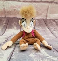 "Disney Store ABU the Monkey 9"" Plush Aladdin Beanbag Vintage - $8.54"