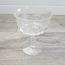 Vintage Fostoria Willowmere Rose Etched Stemware Champagne or Sherbet 19... - $7.92