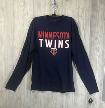 Genuine Merch Minnesota Twins Mens Multicolored Longsleeve Tee Size M ML... - $11.88