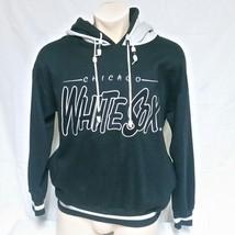 VTG Chicago White Sox Hoodie Sweatshirt 90s Double Hood Beads Graffiti M... - $59.99