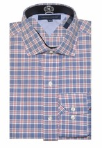 Tommy Hilfiger Men Special Edition Plaid Shirt (17(32-33), Blue/red/white) - $22.76