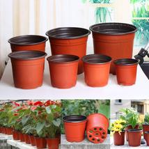 Flower Pot Soft Plastic Plant Pots Desktop Potted Green Garden Nursery F... - $15.17+