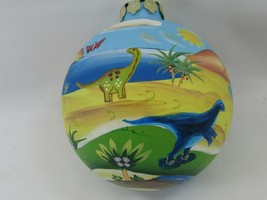 Christmas Ornament DINOSAUR Hand-Painted Ball Dinosaurs 38827 - $44.54