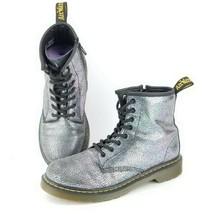 Doc Martens Air Wair Boots Delaney Sz 5 Womens Multi Color Glitter Side Zip - $32.37