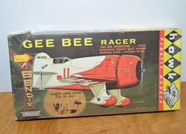 Vintage HAWK GEE BEE RACER Airplane Model Kit 1960 Complete Unbuilt 1/72  - $25.93