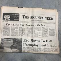 1977 Elvis Death Newspaper The Mountaineer 08/17/77 - $93.49