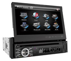 Power Acoustik PTID-8920B In-Dash DVD AM/FM Receiver with 7-Inch Flip-Out Touchs - $260.40