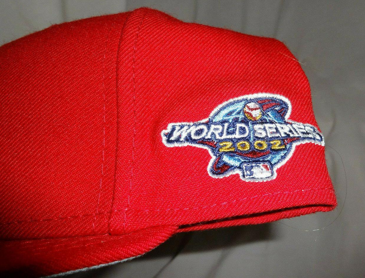 LA Anaheim Angels 2002 World Series New Era Pro Fitted Cooperstown Hat Cap Sz 8
