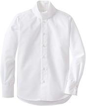 TuffRider Girl's Starter Long Sleeve Show Shirt, White, 12