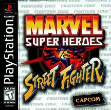 Marvel Super Heroes Vs. Street Fighter PS1 Great Condition Fast Shipping - $62.94