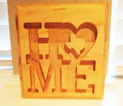 Wood shelf sign-Home (Texas) image 1