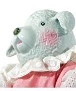 "Animal Doll 16"" Inches Ceramic LAMB Pink Cheeks Playmates Made in Taiwan - $39.59"