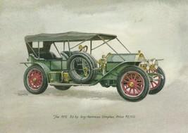 Vintage Birthday Card 1912 50 HP Toy Tonneau Simplex Antique Automobile - $9.89
