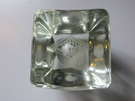 Vtg original very old Wil -Wel advertising solid glass display paperweight - $166.78