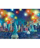 Buffalo CITIES IN COLOR MANHATTAN CELEBRATION NEW YORK 750 PIECE JIGSAW ... - $21.78