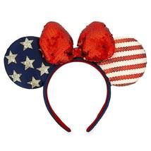 """Disney Parks Stars Stripes Americana Minnie Ears Headband """"Land That I L... - $19.75"""