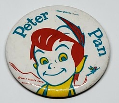 AUTHENTIC WALT DISNEY'S PETER PAN 3 INCH COLLECTIBLE PINBACK BUTTON RARE - $2.48
