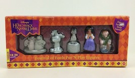 Hunchback of Notre Dame Festival of Fools Put N Play Disney Figure Set Mattel - $17.77