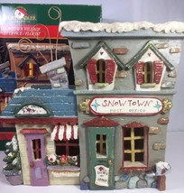 Snowtown Village Post Office Florist Light Up Building Snowfolk Kurt Adler Box - $71.27