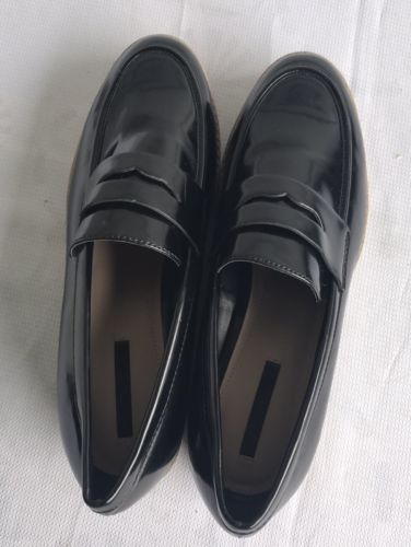 0b22ce4ae7c Zara Trafaluc Black Low Heels Patent Leather and 50 similar items