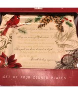 222 FIFTH Holidays Wishes Christmas Dinner Plates Set 4 ~NEW ~ - $59.99