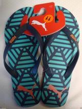 New Puma Men's Flip Flops Thong Sandals Beach Surf Swim Blue Size 12 - $24.74