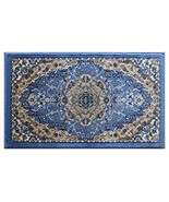 Bellagio Traditional Mat Area Rug Design 401 Blue 24 Inch x 40 Inch Mat - $33.16
