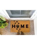 Dog Home Welcome Doormat, Paw Print Housewarming Decor Mat, Outdoor Deco... - $29.65+