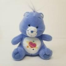 "Nanco Solar Heart Plush Stuffed Care Bear 7""  Periwinkle Blue - $14.52"